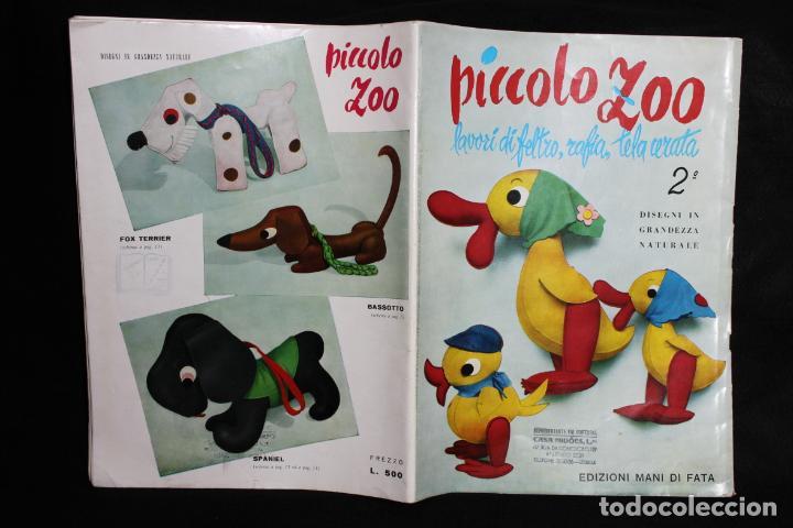 PICCOLO ZOO 2º. PATRONES PARA PELUCHES. 1959. MILANO. EDIZIONI MANI DI FATA. ANIMALES. DISEÑO ITALIA (Coleccionismo - Recortables - Animales)