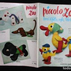Coleccionismo Recortables: PICCOLO ZOO 2º. PATRONES PARA PELUCHES. 1959. MILANO. EDIZIONI MANI DI FATA. ANIMALES. DISEÑO ITALIA. Lote 190707675