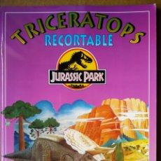 Coleccionismo Recortables: TRICERATOPS RECORTABLE: JURASSIC PARK (SUSAETA, 1993).. Lote 193388916
