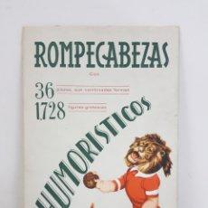Coleccionismo Recortables: ROMPECABEZAS HUMORÍSTICOS BARCELONA EDICIONES BARSAL. Lote 195200242