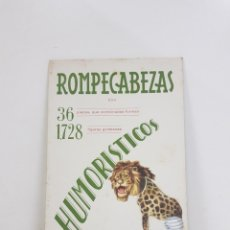 Coleccionismo Recortables: ROMPECABEZAS HUMORÍSTICOS EDICIÓN BARSAL BARCELONA. Lote 195200602
