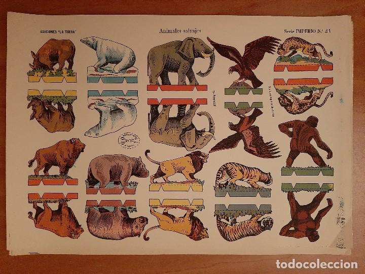 RECORTABLE ANIMALES SALVAJES - LA TIJERA /SERIE IMPERIO Nº 24 (Coleccionismo - Recortables - Animales)