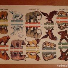 Coleccionismo Recortables: RECORTABLE ANIMALES SALVAJES - LA TIJERA /SERIE IMPERIO Nº 24. Lote 196550056