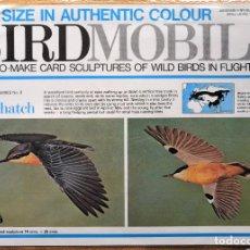 Coleccionismo Recortables: RECORTABLE ESCULTURA TRIDIMENSIONAL DEL TREPADOR AZUL BIRDMOBILE INGLATERRA 1977.. Lote 198482702
