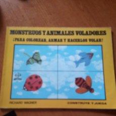 Coleccionismo Recortables: MONSTRUOS Y ANIMALES VOLADORES / CONSTRUYE Y JUEGA. Lote 205644377