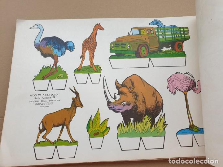 Coleccionismo Recortables: kiki - lolo serie animales, cuaderno con 53 hojas recortables de editorial Roma. Año 1970 - Foto 2 - 209715645