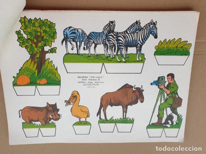 Coleccionismo Recortables: kiki - lolo serie animales, cuaderno con 53 hojas recortables de editorial Roma. Año 1970 - Foto 4 - 209715645