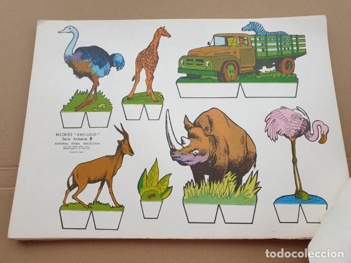 Coleccionismo Recortables: kiki - lolo serie animales, cuaderno con 53 hojas recortables de editorial Roma. Año 1970 - Foto 6 - 209715645