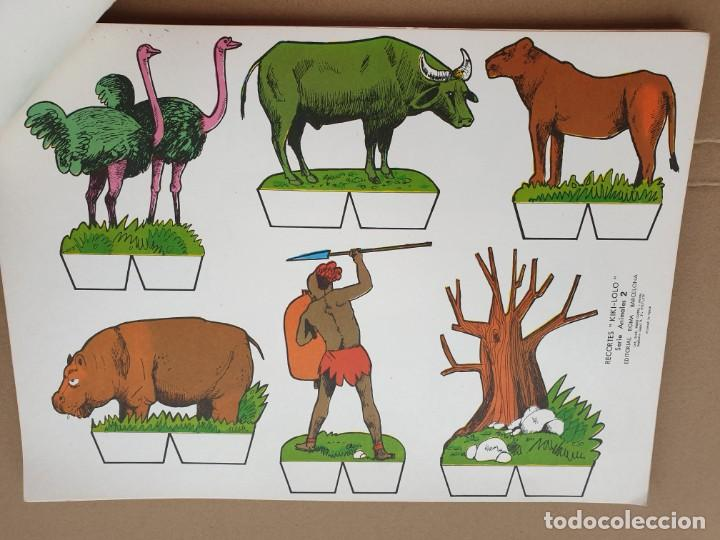 Coleccionismo Recortables: kiki - lolo serie animales, cuaderno con 53 hojas recortables de editorial Roma. Año 1970 - Foto 7 - 209715645