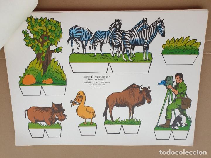 Coleccionismo Recortables: kiki - lolo serie animales, cuaderno con 53 hojas recortables de editorial Roma. Año 1970 - Foto 8 - 209715645