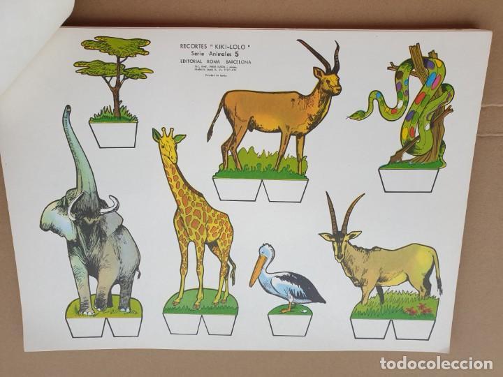 Coleccionismo Recortables: kiki - lolo serie animales, cuaderno con 53 hojas recortables de editorial Roma. Año 1970 - Foto 9 - 209715645