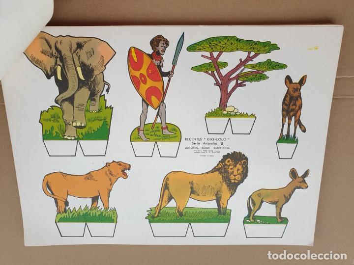 Coleccionismo Recortables: kiki - lolo serie animales, cuaderno con 53 hojas recortables de editorial Roma. Año 1970 - Foto 10 - 209715645