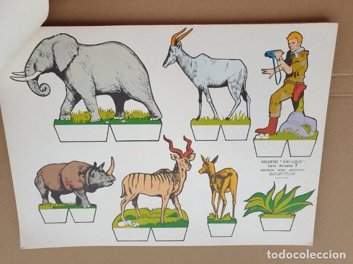Coleccionismo Recortables: kiki - lolo serie animales, cuaderno con 53 hojas recortables de editorial Roma. Año 1970 - Foto 11 - 209715645