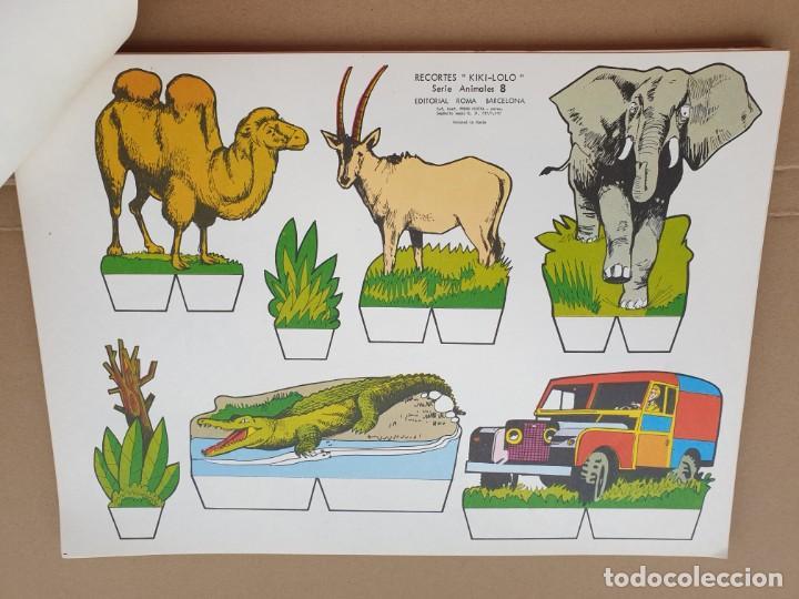Coleccionismo Recortables: kiki - lolo serie animales, cuaderno con 53 hojas recortables de editorial Roma. Año 1970 - Foto 12 - 209715645