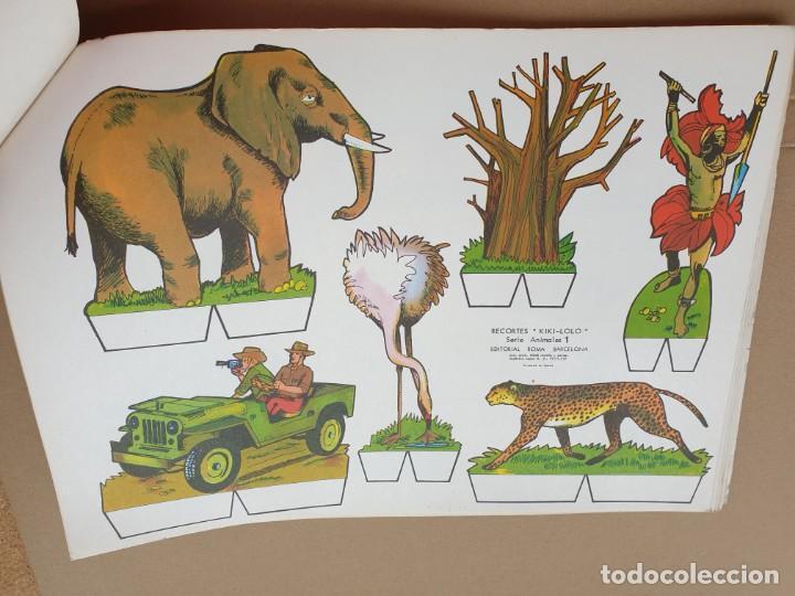 Coleccionismo Recortables: kiki - lolo serie animales, cuaderno con 53 hojas recortables de editorial Roma. Año 1970 - Foto 14 - 209715645