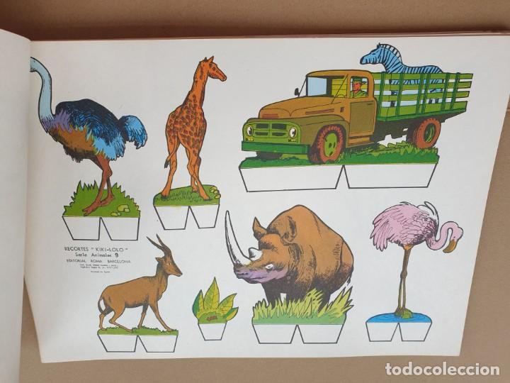 Coleccionismo Recortables: kiki - lolo serie animales, cuaderno con 53 hojas recortables de editorial Roma. Año 1970 - Foto 15 - 209715645