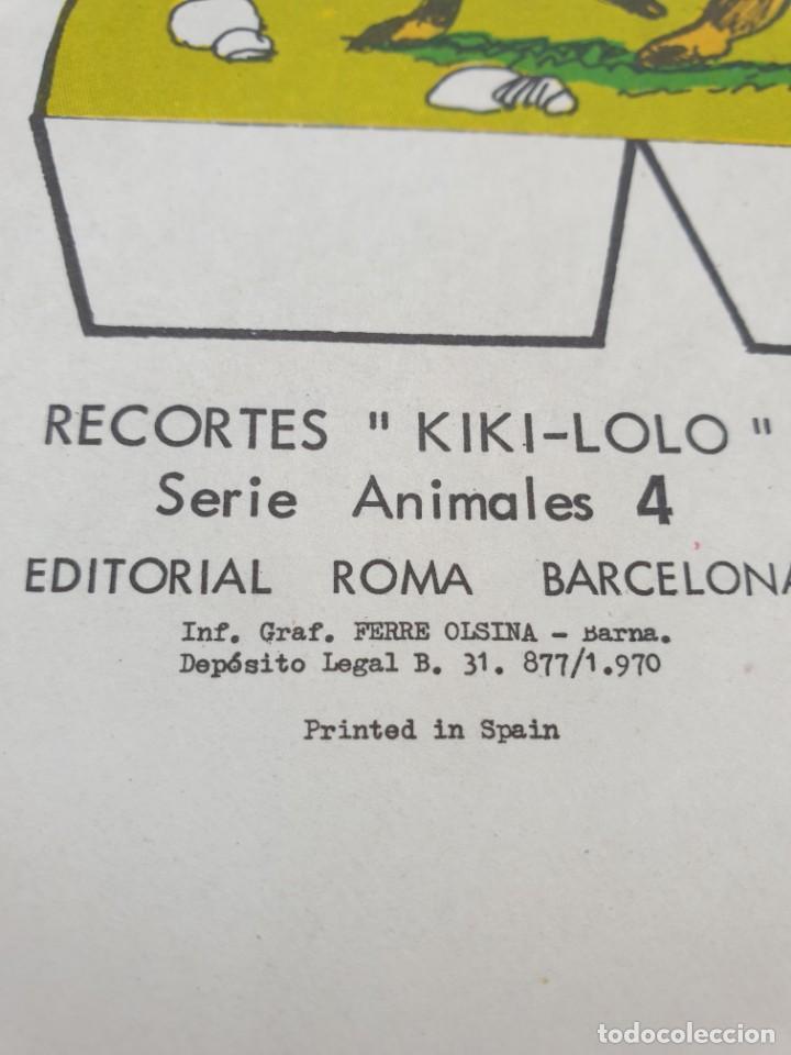 Coleccionismo Recortables: kiki - lolo serie animales, cuaderno con 53 hojas recortables de editorial Roma. Año 1970 - Foto 18 - 209715645