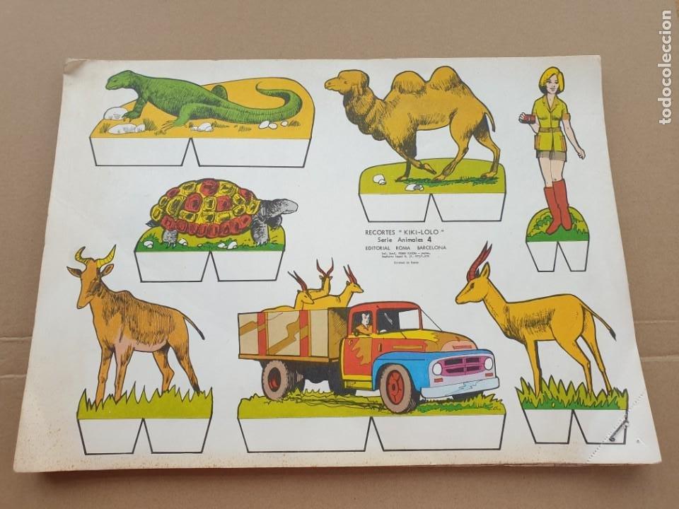 KIKI - LOLO SERIE ANIMALES, CUADERNO CON 53 HOJAS RECORTABLES DE EDITORIAL ROMA. AÑO 1970 (Coleccionismo - Recortables - Animales)