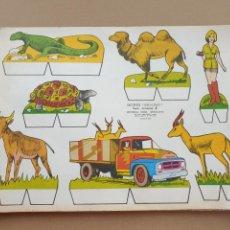 Coleccionismo Recortables: KIKI - LOLO SERIE ANIMALES, CUADERNO CON 53 HOJAS RECORTABLES DE EDITORIAL ROMA. AÑO 1970. Lote 209715645