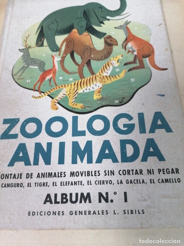 ZOOLOGÍA ANIMADA. ÁLBUM N. 1 (Coleccionismo - Recortables - Animales)