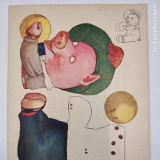 Coleccionismo Recortables: RECORTABLE CON MOVIMIENTO - CERDITO DE LOS PLATILLOS - AÑOS 30. Lote 211954746