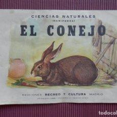 Colecionismo Recortáveis: RARO CUADERNO RECORTABLE AÑO 1960 EL CONEJO PARA VER ANATOMÍA INTERIOR. Lote 215169962