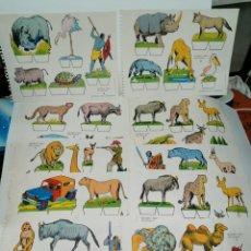 Coleccionismo Recortables: RECORTABLE LOTE DE 10 ANIMALES. ENVÍO GRATIS. Lote 224292092