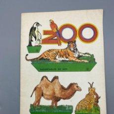 Coleccionismo Recortables: RECORTABLES DE HOY. ZOO. EDICIONES BAUSAN. AÑO 1979. VER FOTOS. Lote 224460758