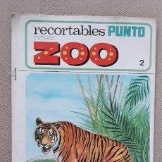 Coleccionismo Recortables: RECORTABLES PUNTO SERIE ZOO Nº 2 NUNCA USADO AÑO 1970. Lote 224693931