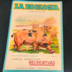 Colecionismo Recortáveis: LA ZOOLOGIA AL ALCANCE DE LOS NIÑOS, SERIE A Nº 6, EL CERDO. ED. ROMA. CON RECORTABLE TROQUELADO. Lote 230653385