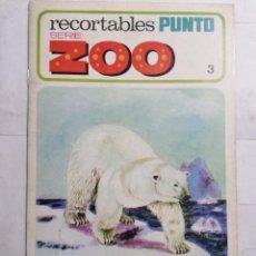 Coleccionismo Recortables: RECORTABLES PUNTO, SERIE ZOO Nº 3, DISTRIBUIDORA PELAYO, AÑO 1970. Lote 239576710
