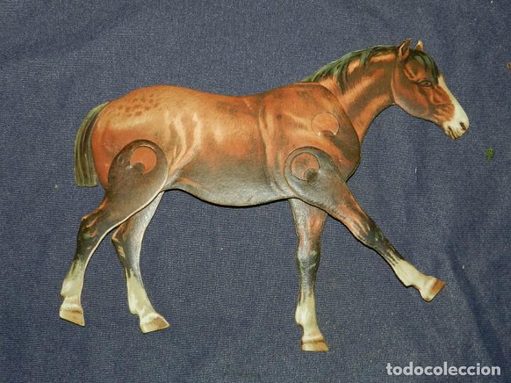 (M) EL CABALLO NUM 4 , SUCESORES DE HERNANDO , MADRID , ANIMALES MOVIBLES , 25 X 20 CM (Coleccionismo - Recortables - Animales)