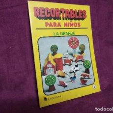 Colecionismo Recortáveis: LIBRITO CON RECORTABLES DE ANIMALES, LA GRANJA, BRUGUERA, COMPLETO, Nº 1, 1980, UNOS 30 X 22 CMS.. Lote 242086615
