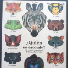 Coleccionismo Recortables: ¿QUIÉN SE ESCONDE? 15 CARETAS TROQUELADAS DE PIERRE-MARIE VALAT - SIRUELA, 1990. Lote 242106155