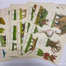 Coleccionismo Recortables: LOTE DE 9 RECORTABLES KIKI-LOLO. SERIE ANIMALES. EDITORIAL ROMA. VER TODAS LAS FOTOS. Lote 246936580