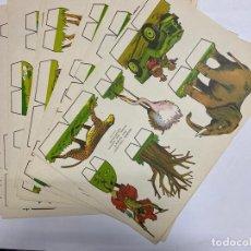 Coleccionismo Recortables: LOTE DE 9 RECORTABLES KIKI-LOLO. SERIE ANIMALES. EDITORIAL ROMA. VER TODAS LAS FOTOS. Lote 246937305