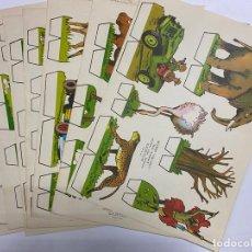 Coleccionismo Recortables: LOTE DE 9 RECORTABLES KIKI-LOLO. SERIE ANIMALES. EDITORIAL ROMA. VER TODAS LAS FOTOS. Lote 246937395