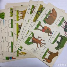Coleccionismo Recortables: LOTE DE 9 RECORTABLES KIKI-LOLO. SERIE ANIMALES. EDITORIAL ROMA. VER TODAS LAS FOTOS. Lote 246937575