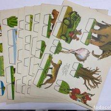 Coleccionismo Recortables: LOTE DE 9 RECORTABLES KIKI-LOLO. SERIE ANIMALES. EDITORIAL ROMA. VER TODAS LAS FOTOS. Lote 246937835