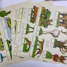 Coleccionismo Recortables: LOTE DE 9 RECORTABLES KIKI-LOLO. SERIE ANIMALES. EDITORIAL ROMA. VER TODAS LAS FOTOS. Lote 246937910