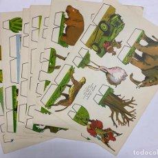 Coleccionismo Recortables: LOTE DE 9 RECORTABLES KIKI-LOLO. SERIE ANIMALES. EDITORIAL ROMA. VER TODAS LAS FOTOS. Lote 246938035