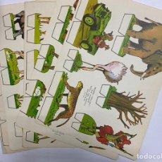 Coleccionismo Recortables: LOTE DE 8 RECORTABLES KIKI-LOLO. SERIE ANIMALES. EDITORIAL ROMA. VER TODAS LAS FOTOS. Lote 246938265