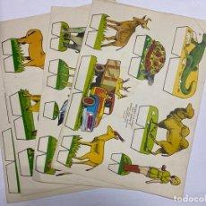 Coleccionismo Recortables: LOTE DE 5 RECORTABLES KIKI-LOLO. SERIE ANIMALES. EDITORIAL ROMA. VER TODAS LAS FOTOS. Lote 246938590