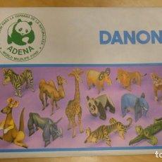 Colecionismo Recortáveis: COLECCIONABLE DE DANONE ANIMALES . ADENA . CEBRA. Lote 248154095