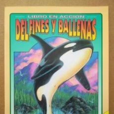 Coleccionismo Recortables: LIBRO EN ACCIÓN: DELFINES Y BALLENAS (SUSAETA, 1993). ILUSTRACIONES DE DANIEL SMITH.. Lote 258844315