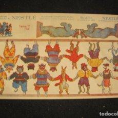 Coleccionismo Recortables: NESTLE-LA LECHERA-ANIMALES-RECORTABLE ANTIGUO-VER FOTOS-(K-4252). Lote 291049338