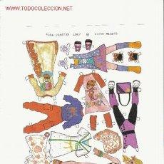 Coleccionismo Recortables: LOTE 8 MUÑECAS RECORTABLES DE MÉXICO.(DISTINTOS MODELOS). Lote 26444534