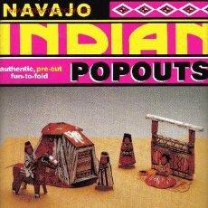 Coleccionismo Recortables: NAVAJO INDIAN POPOUTS. 48 X 68 CM APROX.. Lote 27409974