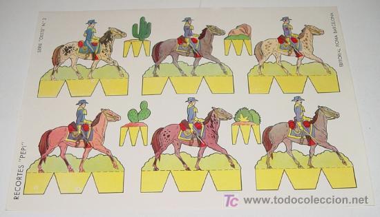 ANTIGUO RECORTABLE PEPI - ED. ROMA - SERIE OESTE Nº 2 - MIDE 31 X 21,5 CMS. (Coleccionismo - Otros recortables)