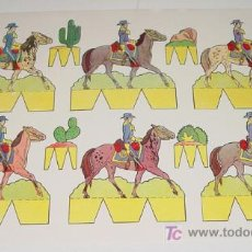 Coleccionismo Recortables: ANTIGUO RECORTABLE PEPI - ED. ROMA - SERIE OESTE Nº 2 - MIDE 31 X 21,5 CMS. . Lote 4008340